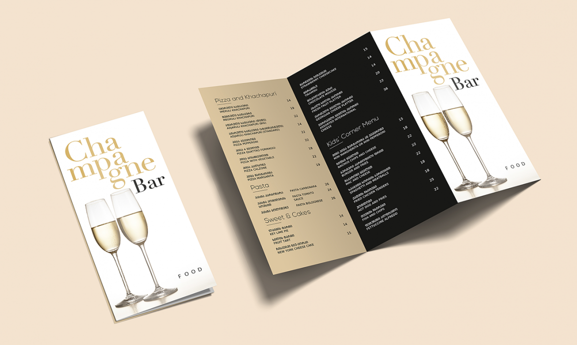 Menus For Georgia Palace Hotel and Spa